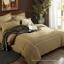 Luxury Golden Tencel Stoff Amazon heißer Verkauf Herr Preis Startseite Bettwäsche Bettbezug Set