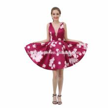 Nach Maß Abendessen Abendessen Kleid Short White Satin Elegantes Kleid Latest Design Prom Schichten Kleid