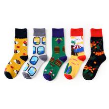 Custom Happy Cartoon Crew Cute Slipper Toe Plush Animal Baby Socks
