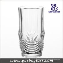 Gobelet en verre lavé en verre gravé de 12 oz / verre