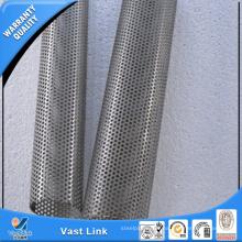 Edelstahl Spiral Perforierte Rohr / Rundloch Spiral Perforierte Rohr