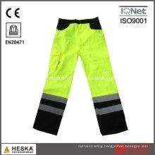Hi Vis Stitching Yellow Workwear Reflective Pants