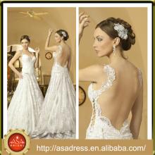 NA-18 Plus Size Crepe piso de longitud nupcial largo vestido de novia Appliqued vestidos de novia con tren desmontable Vestidos De Noiva