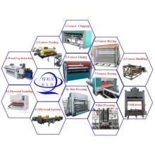 Sperrholz Laminierende Heißpressmaschine