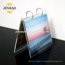 Estantes del soporte de exhibición del material plástico claro de Jinbao Calendario de escritorio de acrílico