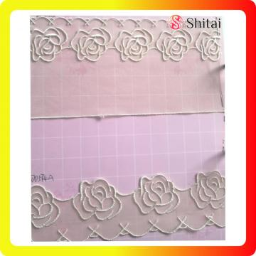 Fashion flower embroidery tulle fabric