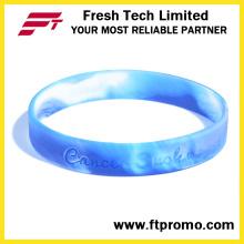 Pulsera de silicona promocional personalizada con OEM
