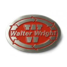 Boucle de ceinture en métal personnalisée avec forme ovale