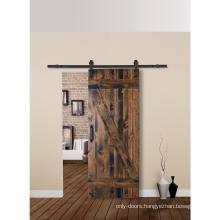 Rustic Z Plank Solid Cherry Wood Storeroom Barn Door