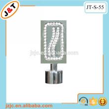 Barra de cortina de metal plano retráctil con acabado de cortina de diamante