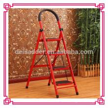 Échelle en acier pliante 4 étapes / chaise échelle / échelles en acier inoxydable