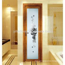 Modern interior frosted glass bathroom door/aluminium door for interior