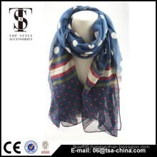 Soft summer uae scarf flower printed polyester shawls