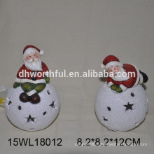 Керамические рождественские украшения Санта с LED