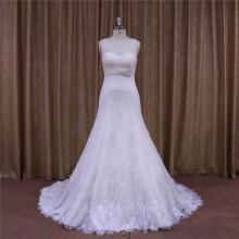 A-Line Wedding Dress Detachable Train