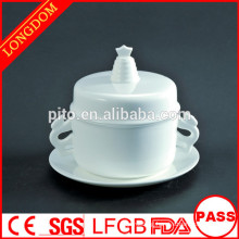 High quality hotel restaurant Chinese traditional porcelain tureen soup bowl