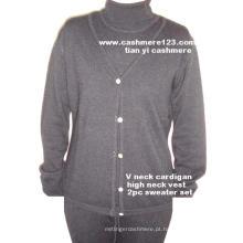 Cashmere Twince: Camisola V, Conjunto Vest H