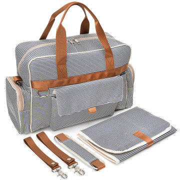 Canvas Messenger Volltonfarbe Baby Love Wickeltasche