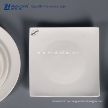 Weißes kundenspezifisches Firmenzeichen-Knochen China-feines keramisches quadratisches Tafel