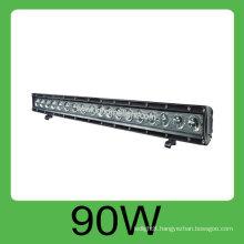 Hot sale 90W IP68 DC10v-30V hid car led work light bar