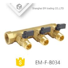 EM-F-B034 Thread brass valve manifold
