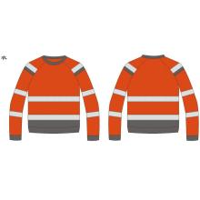 high visibility biocolor safety reflective sweatshirt