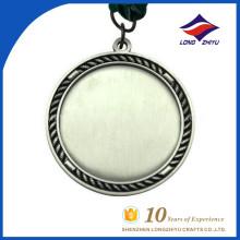 Tradition personnalisée et fabrication de la médaille en blanc à bas prix en Chine