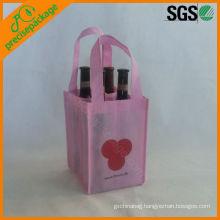 customized eco reusable non woven bottle wine bag