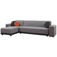 Sleeper Chaise Sectional Fabric Corner Tempat Tidur Sofa