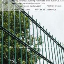 Hot Sales galvanizado / poder revestido cerca de malha de arame ISO9001: 2000