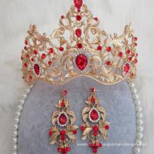 Alta qualidade nupcial Weeding tiaras real diamante coroa e tiaras