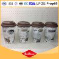 Produtos de cerâmica ecológica 400ml formas cerâmicas caneca de café, caneca de silicone