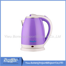 1.8 L Colourful Electric Kettle Hotel Water Kettle Stainless Steel Kettle Sf-2007 (Purple)