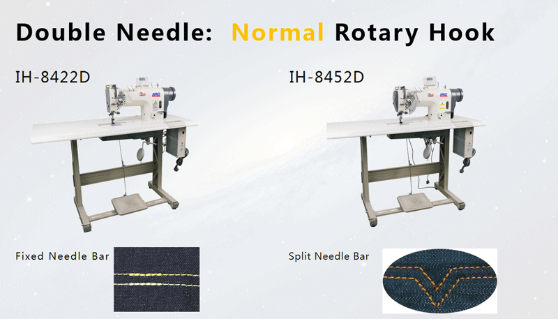 Double Needle Sewing Machien Small Hook