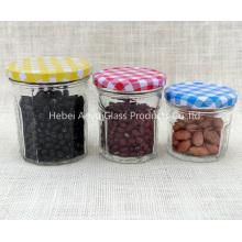 Pequeno tamanho 50ml de vidro transparente Mason Jar / Jelly Jar / Jam Jar com tampa de parafuso
