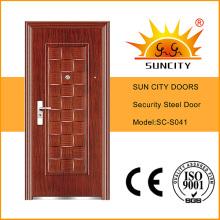 Models Steel Door Design Used Wrought Iron Door Gates (SC-S041)
