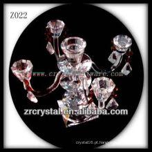 Suporte de vela de cristal popular Z022