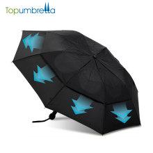 Markt-Auto-offene Doppelschicht 2 Falten stark winddicht Regen Regenschirm zu verkaufen