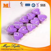 Vela perfumada en forma de corazón del candelita para el día de San Valentín