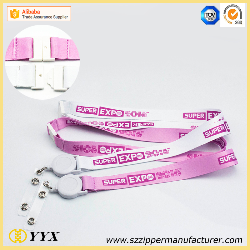 rectractable clip lanyard with full printing