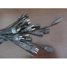 European VDE schuko/VDE/EU plug power cable