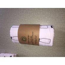Após lavagem algodão orgânico tecido impresso bebê manta de algodão orgânico