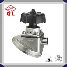 Valve à diaphragme de fond de réservoir soudé en acier inoxydable