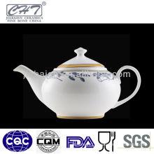 A069 Personalized decorated fine quality bone china porcelain restaurant coffee tea pot