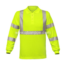 comfortable yellow high vis shirt with pocket