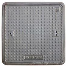 En124 D400 C250 B125 couvercle de trou d'homme en fonte ductile