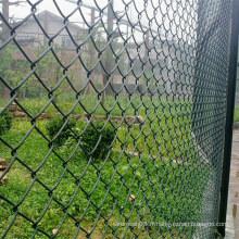 Clôture enduite de lien de chaîne de PVC pour la protection de cour