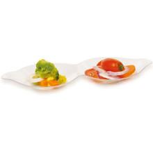PP / PS Discos de plástico Plato desechable en forma de cacahuete