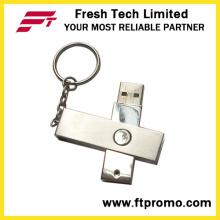 Lecteur flash USB à rotation métallique (D301)