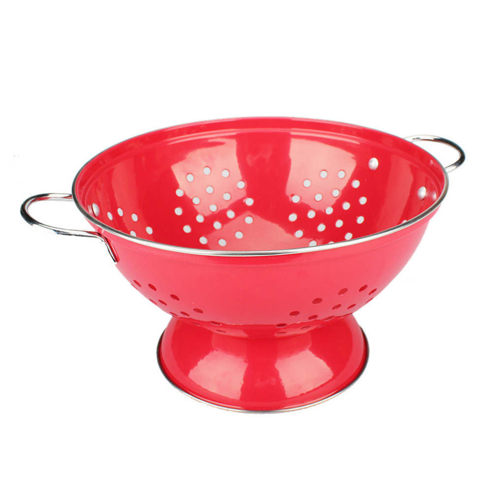 Painting Red Stainless Steel Colander